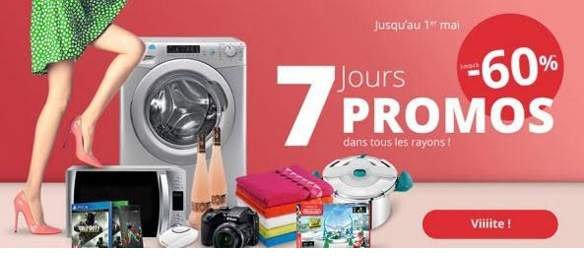 ne loupez pas les 7 jours promos chez auchan. Black Bedroom Furniture Sets. Home Design Ideas