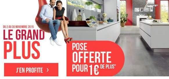 cuisine plus vous offre la pose de votre cuisine pour 1 eur de plus. Black Bedroom Furniture Sets. Home Design Ideas