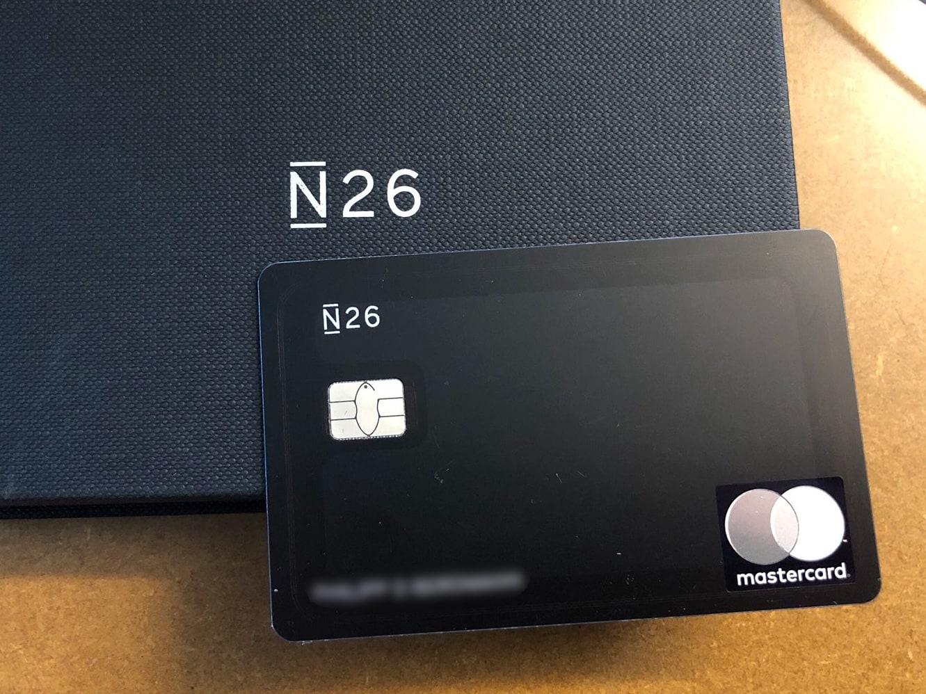 Carte N26 Metal.N26 Lance N26 Metal Un Compte Premium Avec Une Cb En Acier